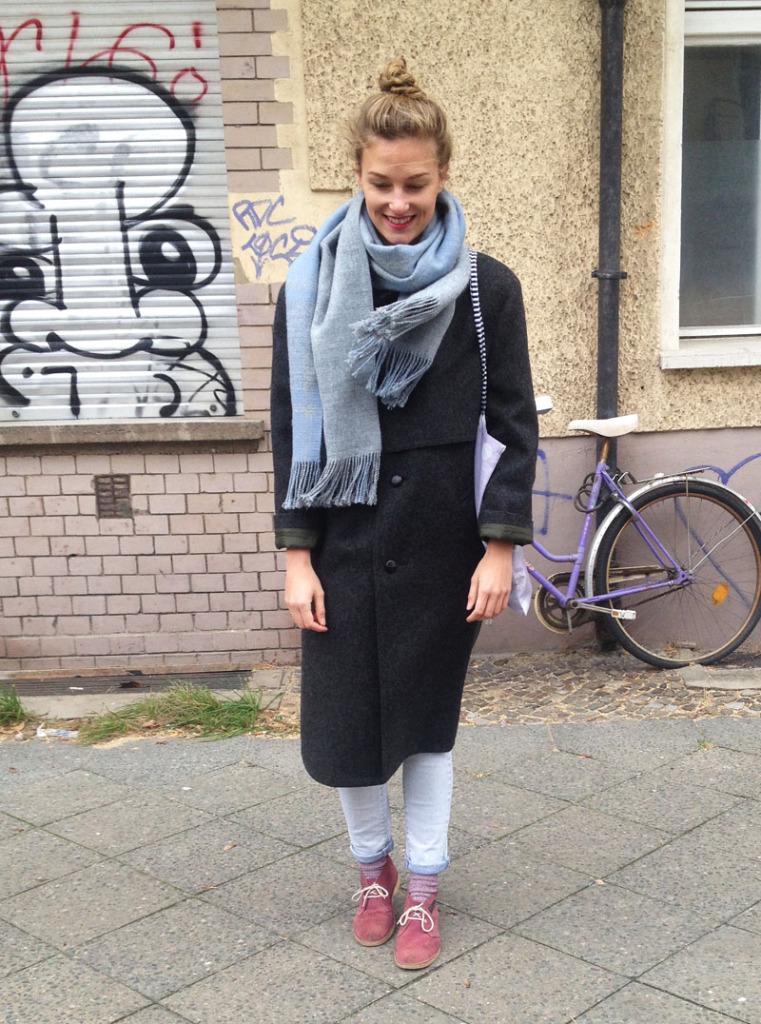 Grauer Schal XL