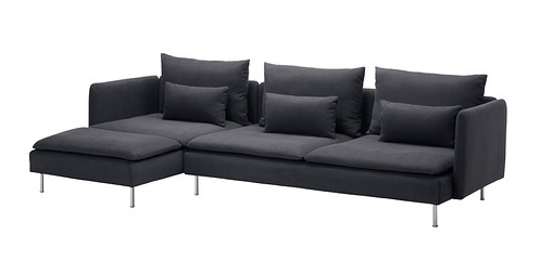 ecksofa ikea grau. Black Bedroom Furniture Sets. Home Design Ideas