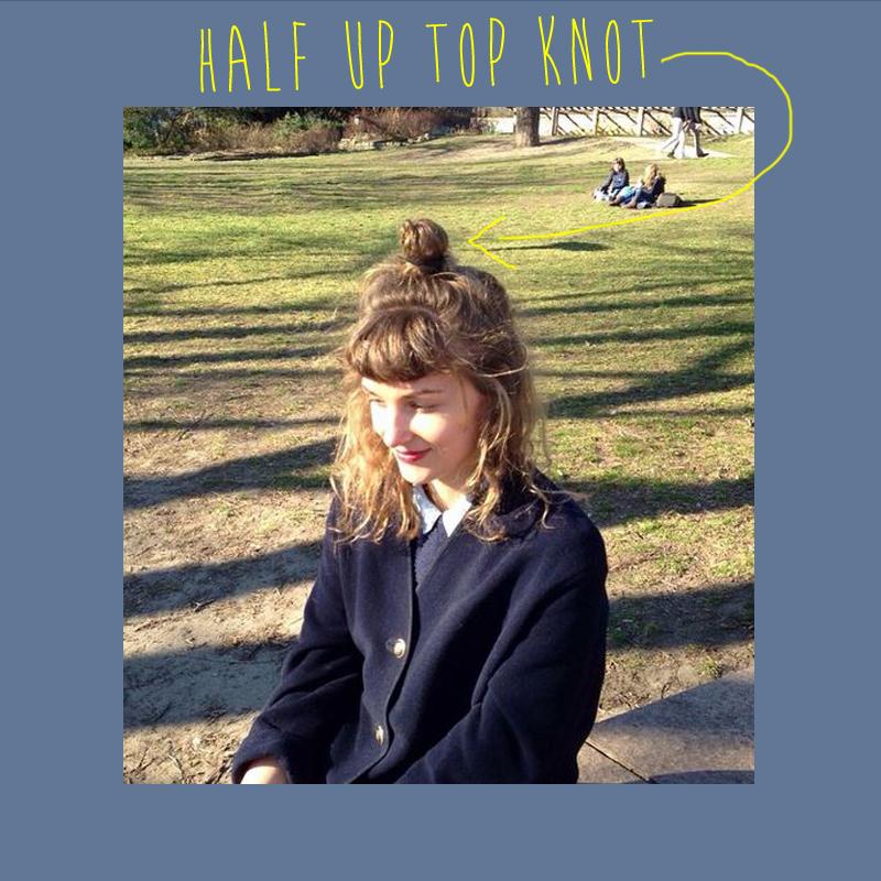 half up top knot