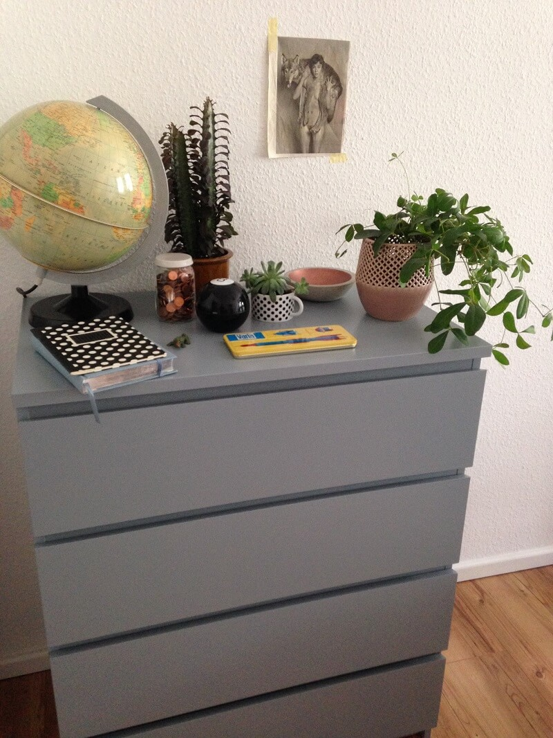 Diy ikea malm makeover for Malm kommode grau
