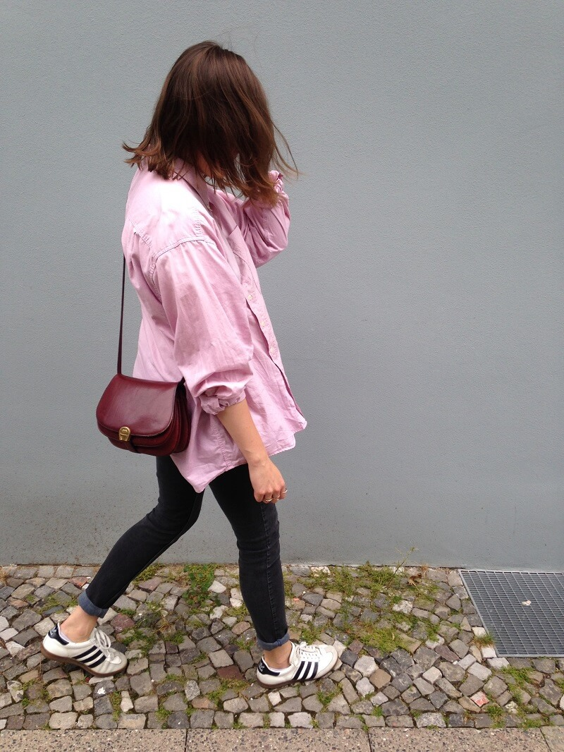 outfit rosa hemd
