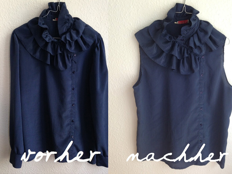 diy upcycling bluse