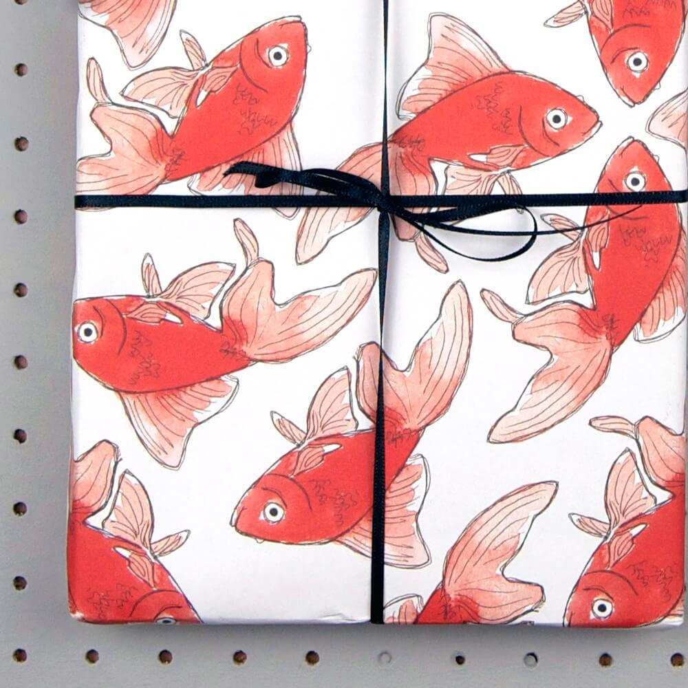 goldfisch geschenkpapier