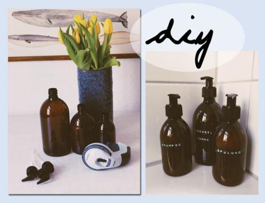 badezimmer diy shampoo flaschen pimpen
