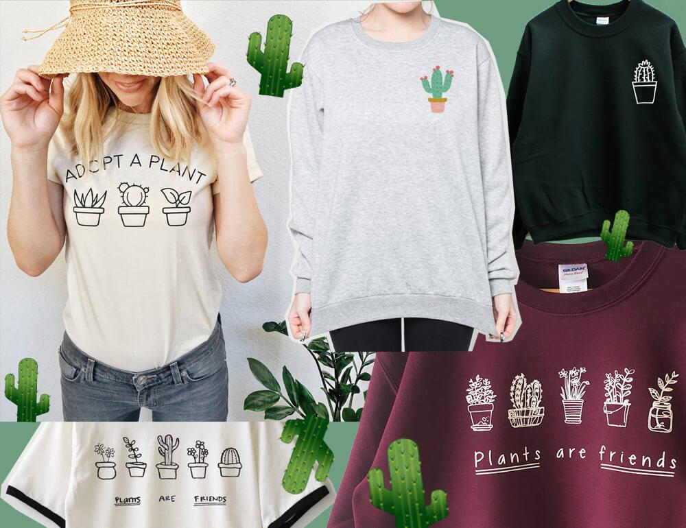 plants are friends die sch nsten pflanzen kaktusshirts. Black Bedroom Furniture Sets. Home Design Ideas