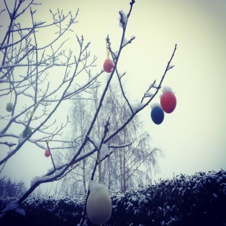 Schnee an Ostern 2013