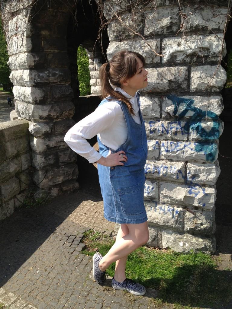 Jeans kleid latzhose
