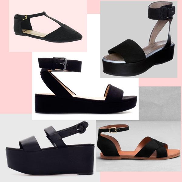 sandalette plateau