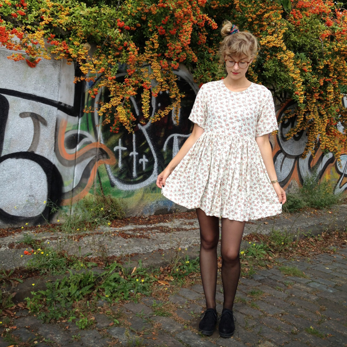 Blumenkleid outfit