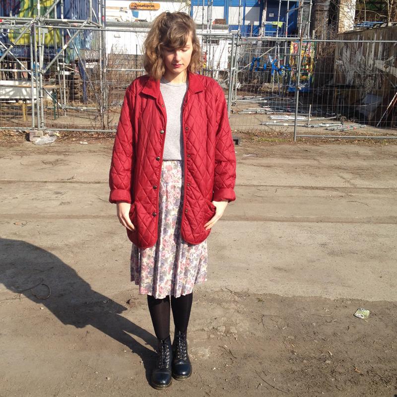 Outfit Blumen Rock