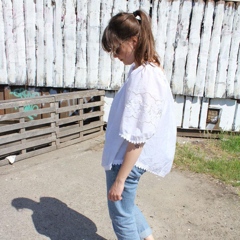 Outfit: Die Blue Jeans & das Schneeweißchen