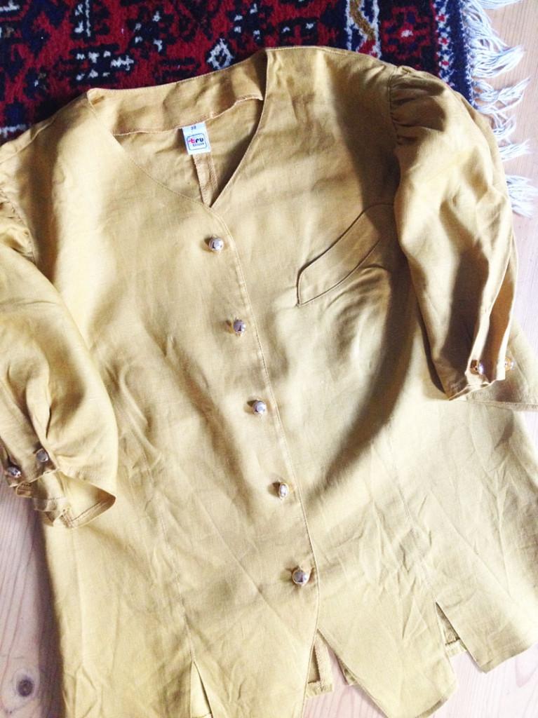 Vintage Bluse senfgelb