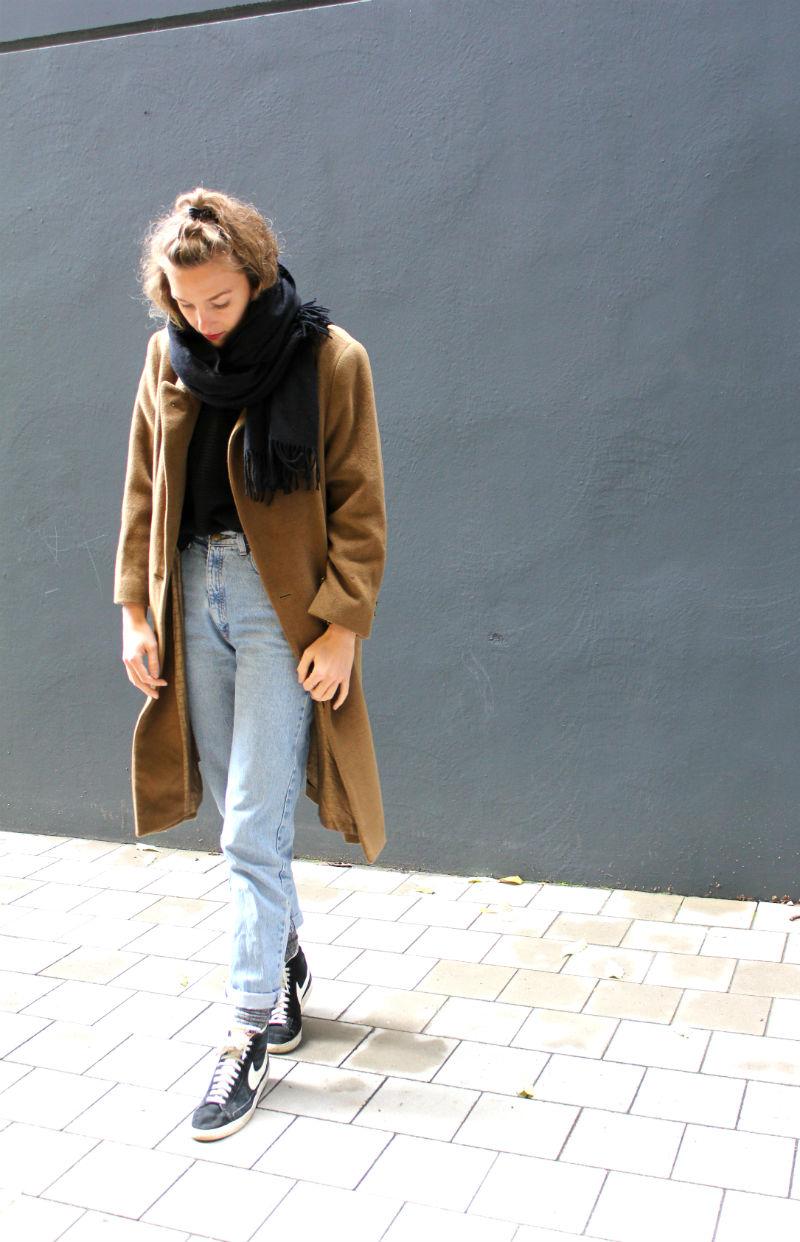 Senfgelber Vintage Mantel (1)