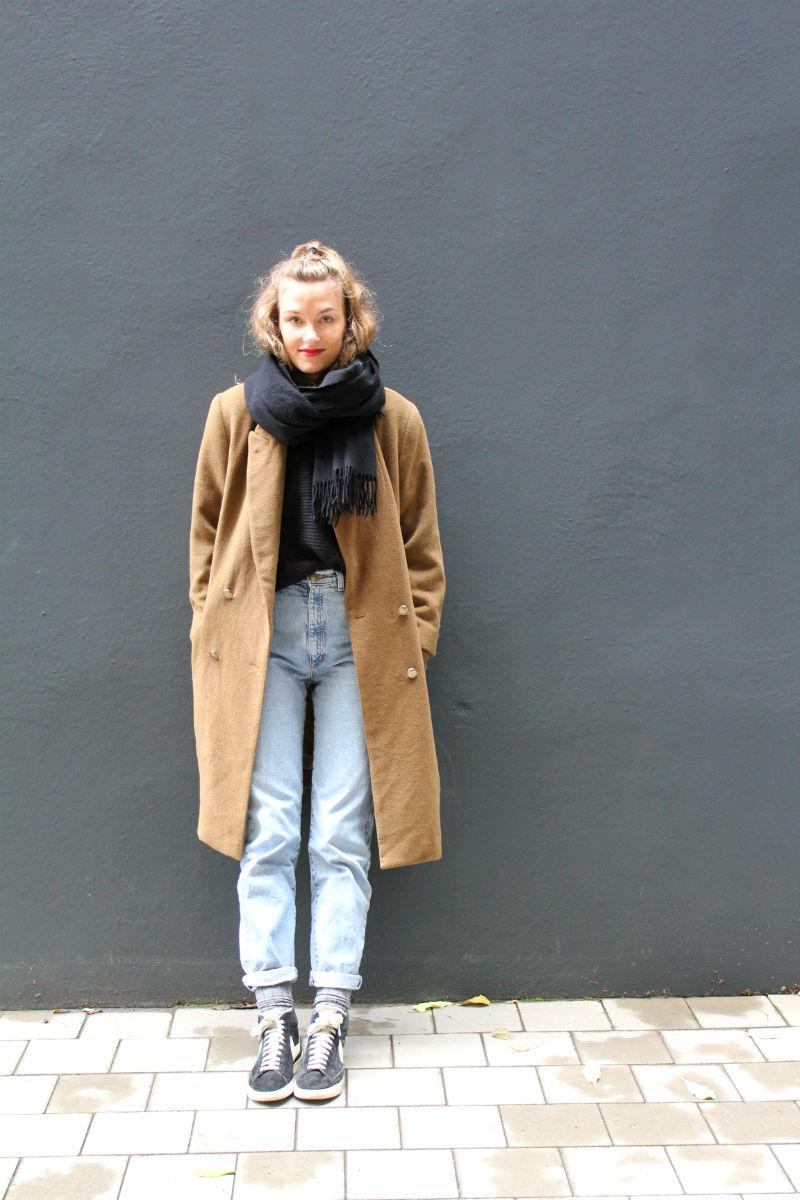 Senfgelber Vintage Mantel (4)