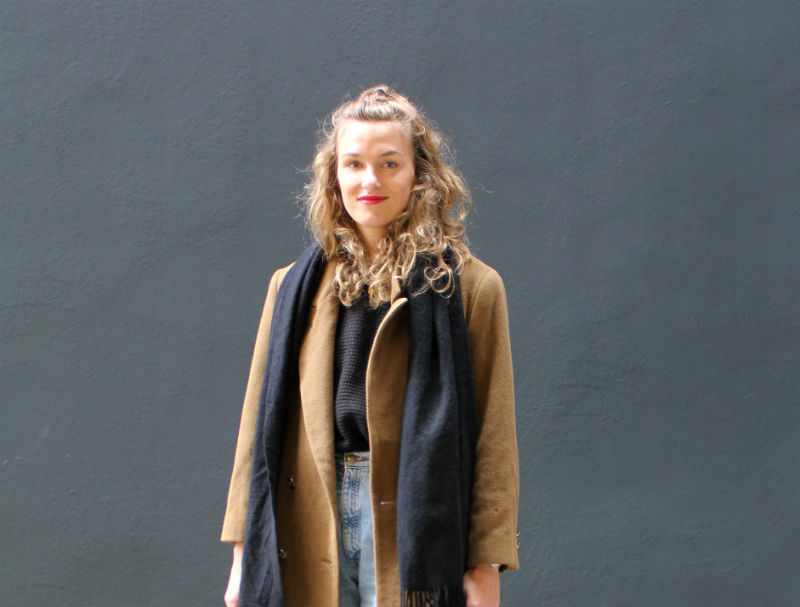 Senfgelber Vintage Mantel (7)