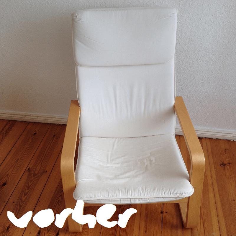 DIY Sessel vorher