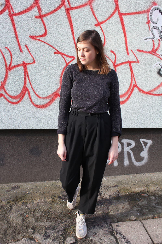 outfit glitzertop