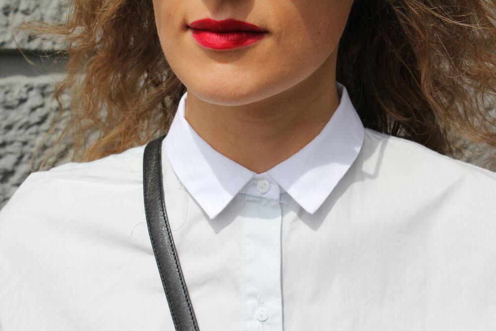 Zara Bluse Kragen