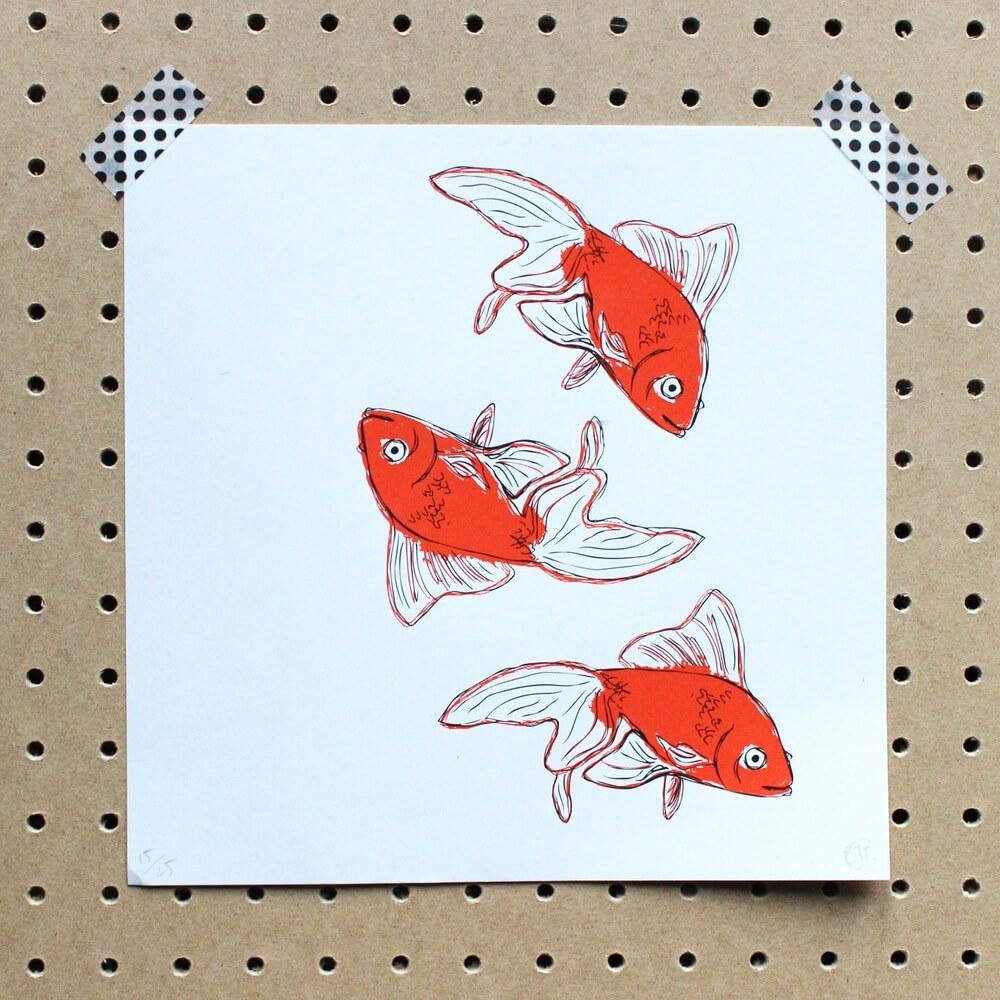 goldfisch print