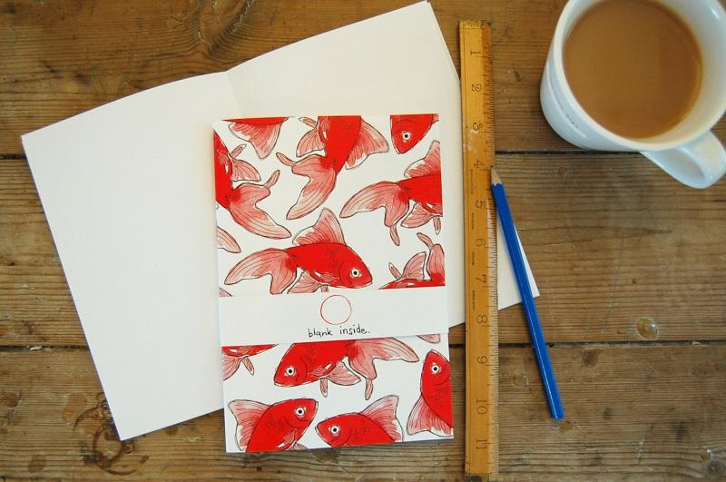 notebook goldfisch Blank Inside