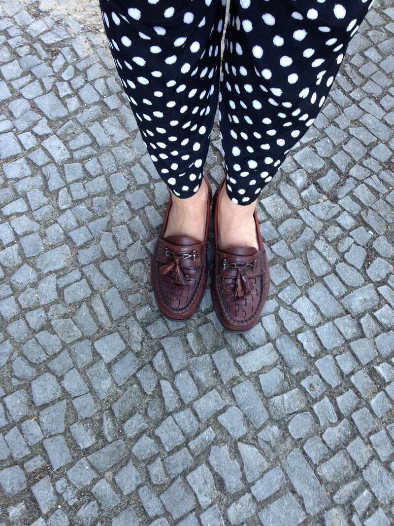outfit polka dot pants