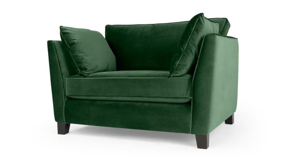 Sofa grün Samt