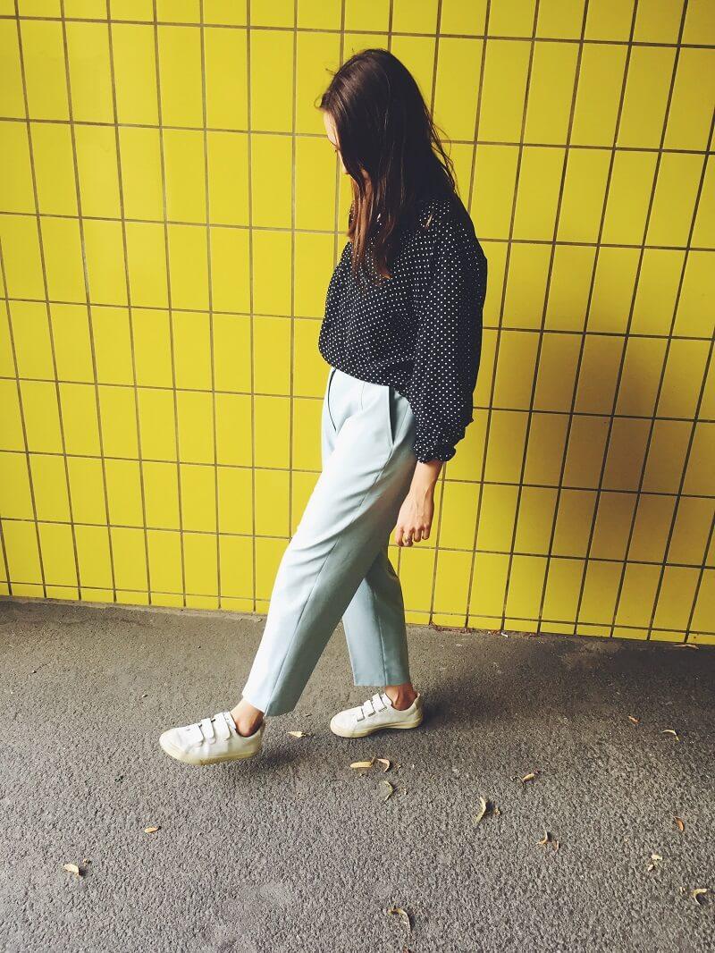 Polka Dot Bluse