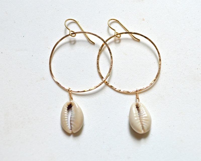 Muschel und Seestern Ohrringe
