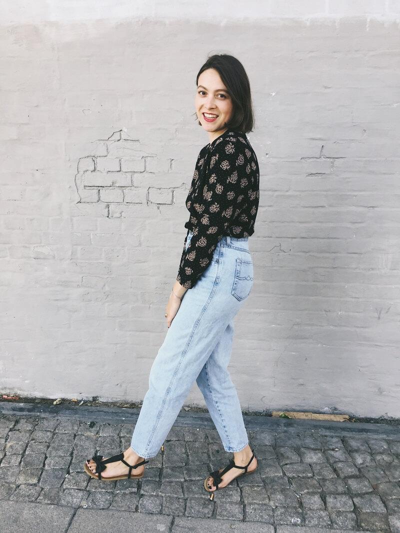 Flohmarkt Jeans & Vintage Bluse