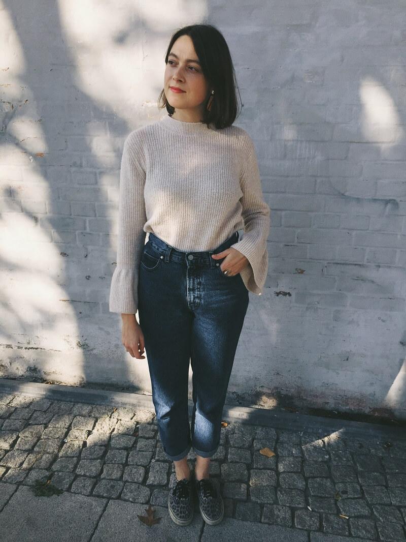 SLOW FASHION OUTFIT // Strickpulli und Jeans
