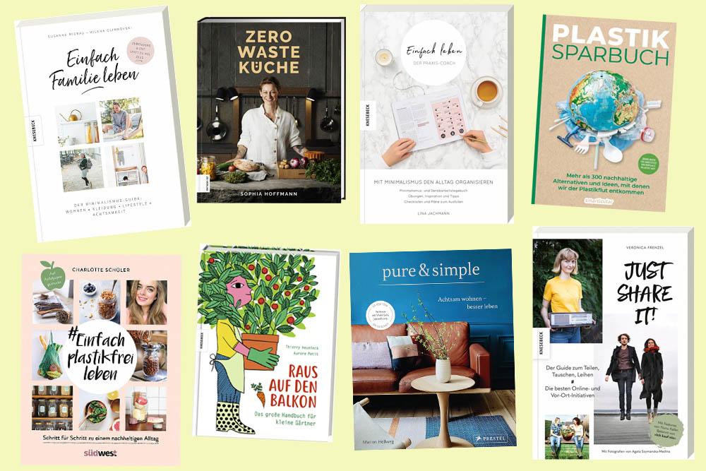 Neue Bücher zu den Themen Zero Waste, Minimalismus & Slow Living