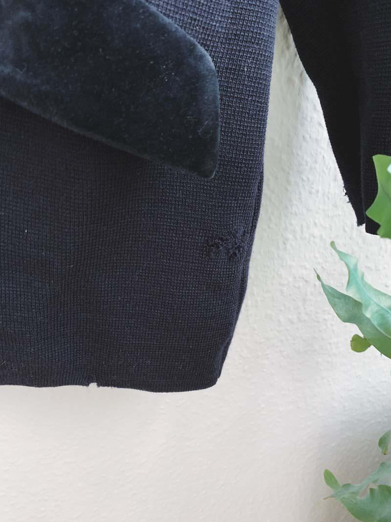 Motten zerfressene Strickjacke retten