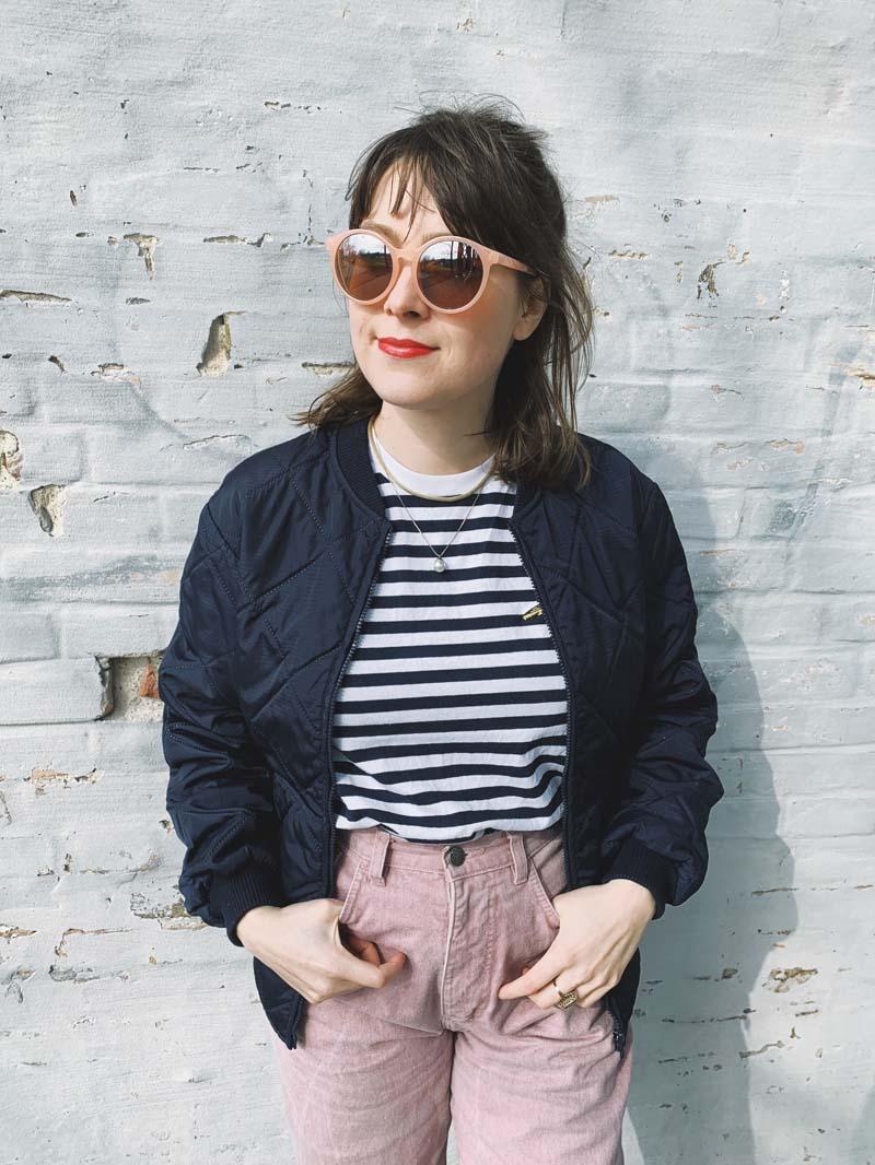 OUTFIT // Vintage Jeans & Streifenshirt von Uniqlo