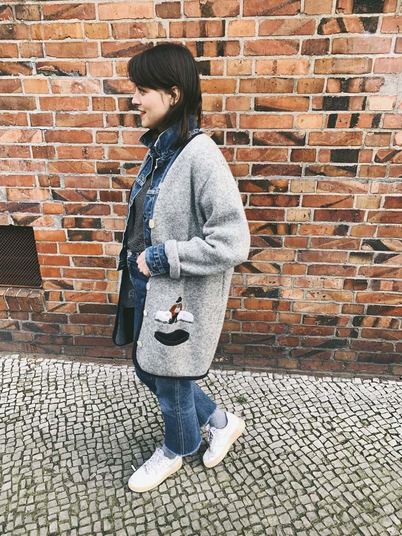 Jeans in Doppelpack & Vintage Cardigan
