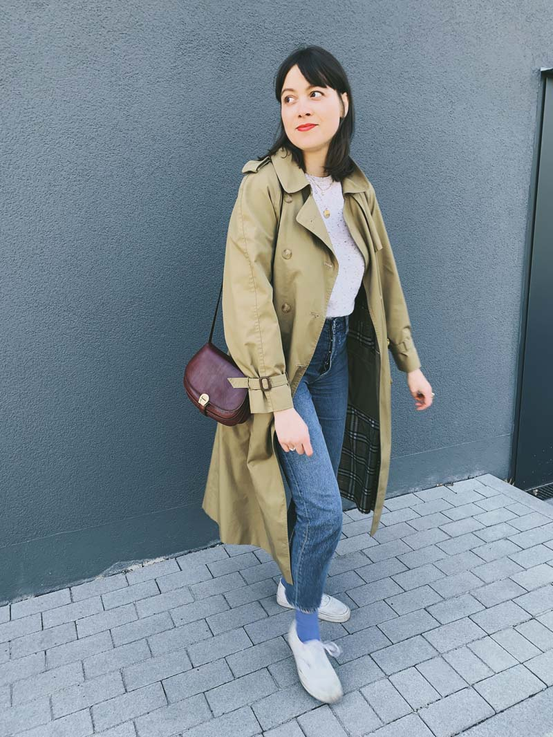 SLOW FASHION OUTFIT // Vintage Trenchcoat & Basics