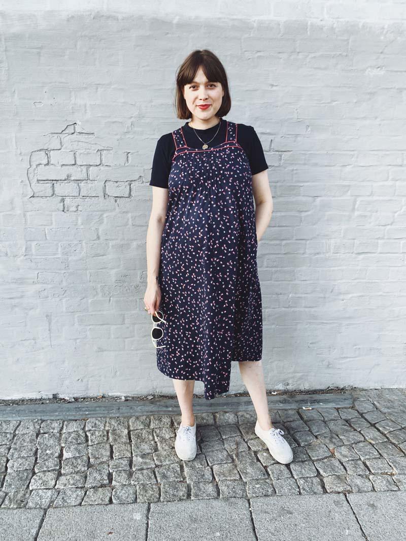SLOW FASHION // Das vintage Blümchen Umstandskleid