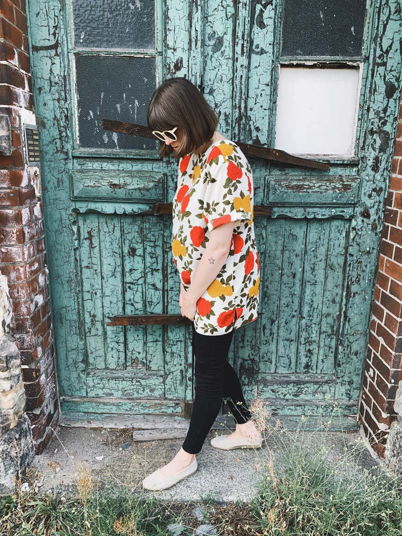 SLOW FASHION OUTFIT // Die vintage Blümchen Bluse
