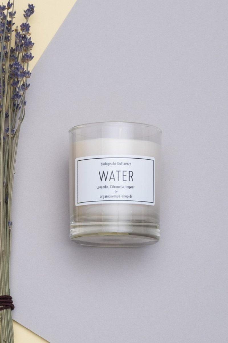 Duftkerze Rapswachs Water