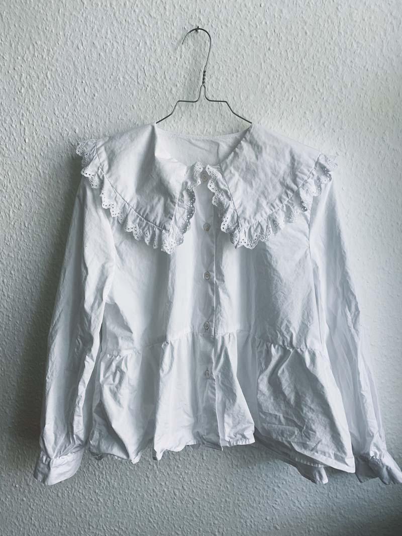 UPCYCLING // Die Bluse mit großem Kragen